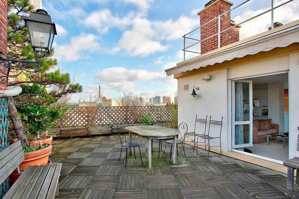 location appartement meubl rue pierre gu rin paris ref 9993 balcon terrasse pinterest. Black Bedroom Furniture Sets. Home Design Ideas