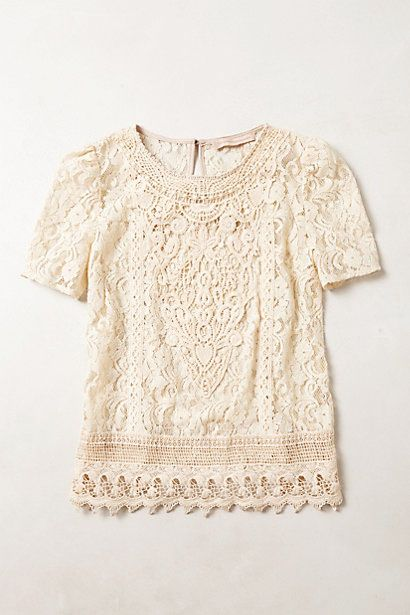 [Lace Firenze Blouse by Anthropologie]