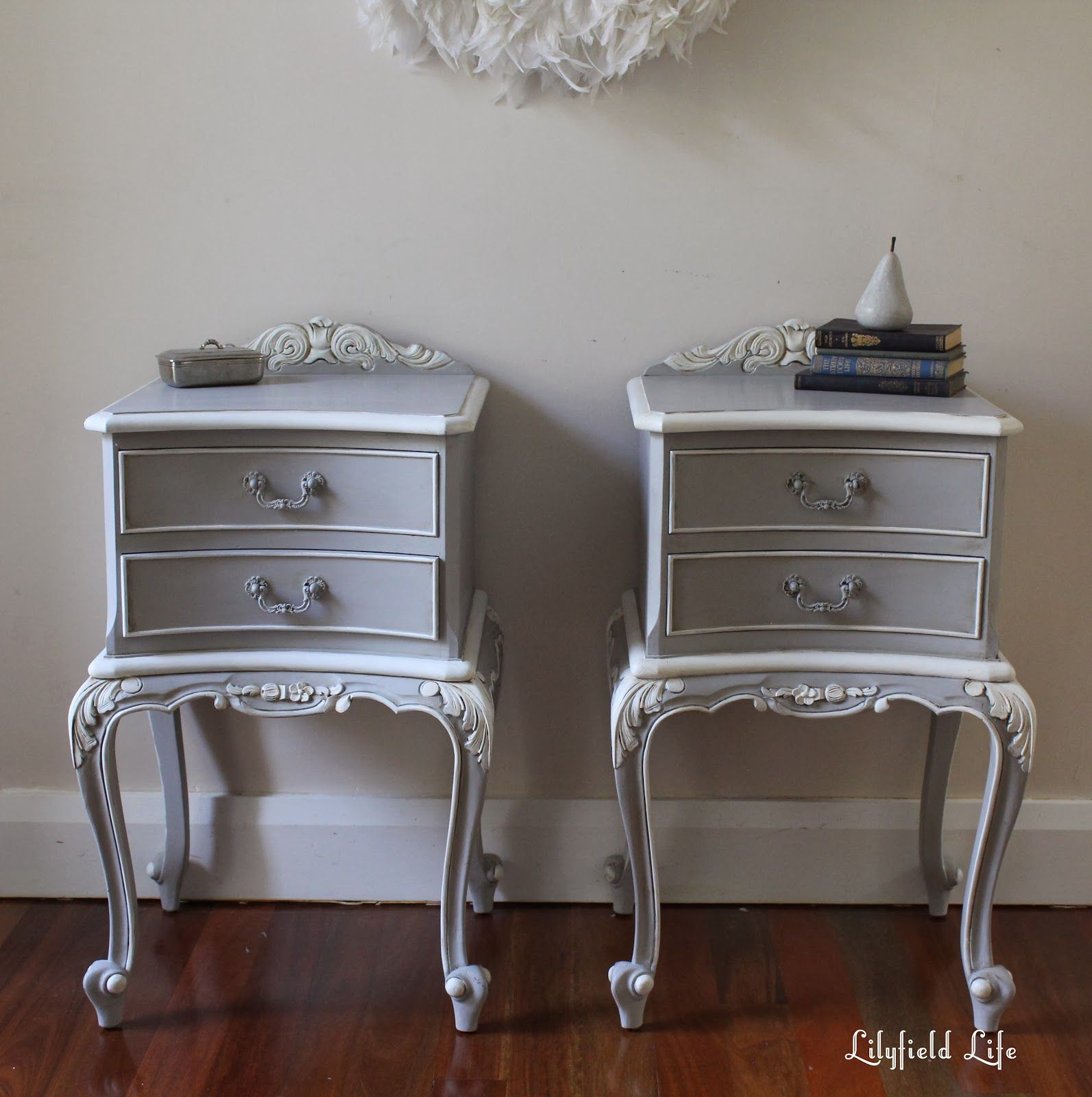 Painting ornate details antique french bedside tables french lilyfield life painting ornate details antique french bedside tables watchthetrailerfo
