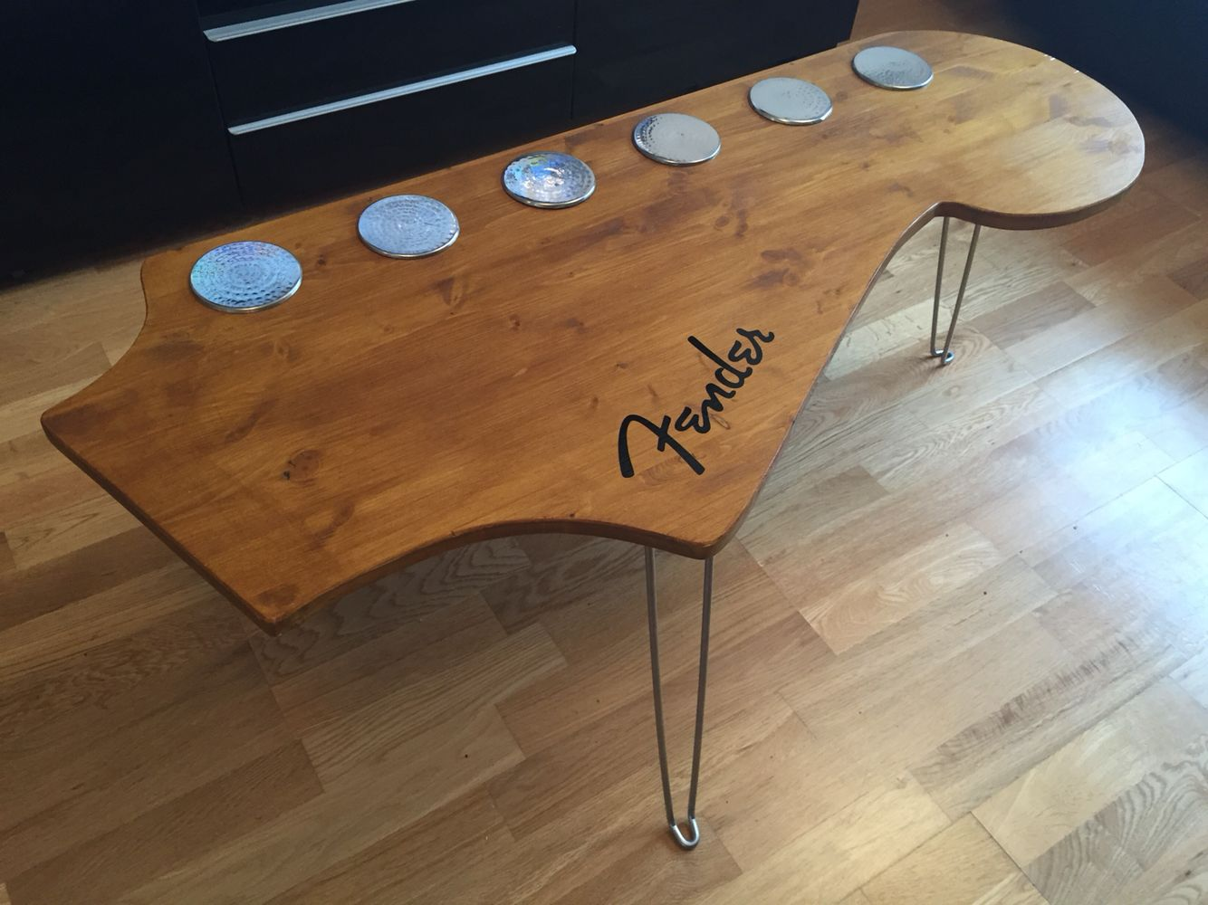 Fender stratocaster headstock coffee table living room fender stratocaster headstock coffee table geotapseo Images