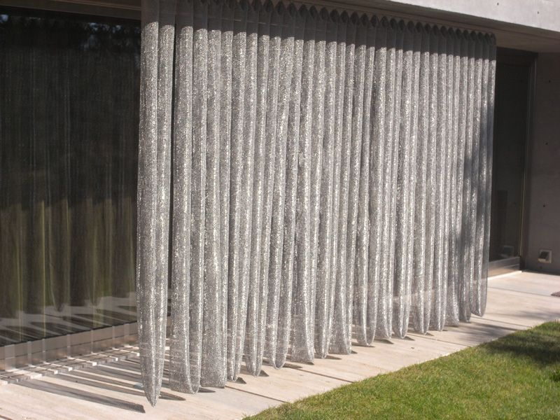Architectural Ring Mesh Gallery Whiting Davis Outdoor Drapes Outdoor Drapery Contemporary Patio