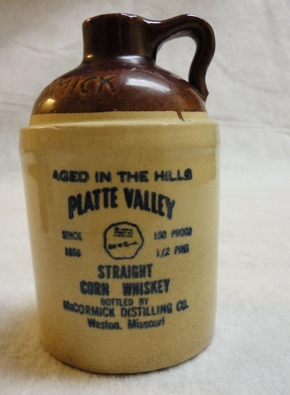Stoneware Whisky Jug Mccormick 95 00 Via Etsy Whisky Brandy Bottle Liquor Bottles