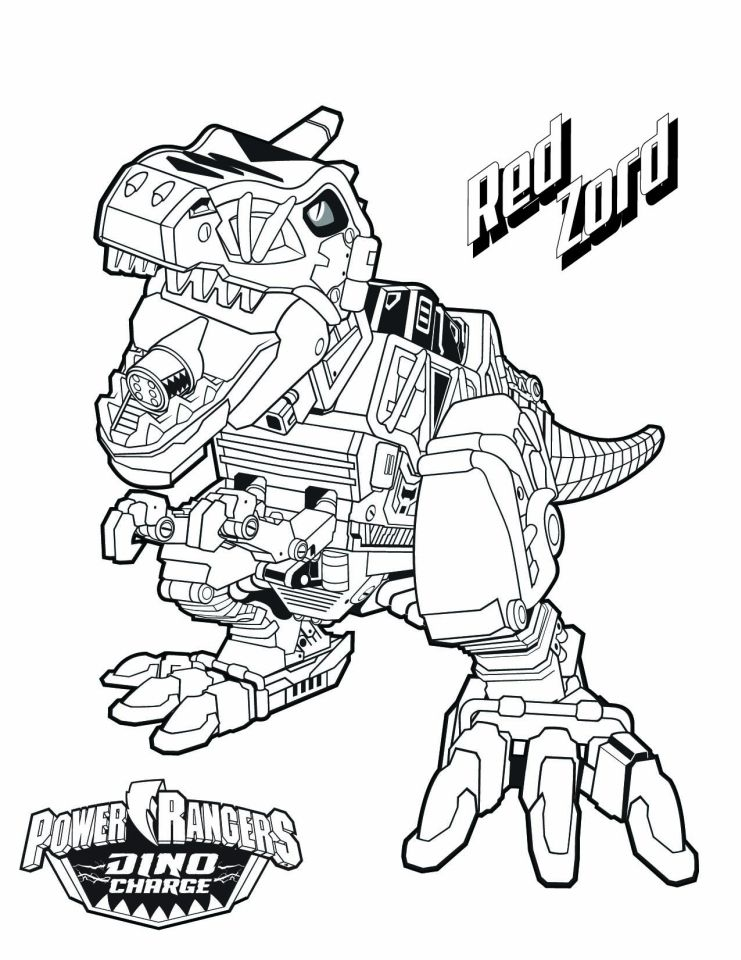 power ranger dino force coloring pages for kids 15278