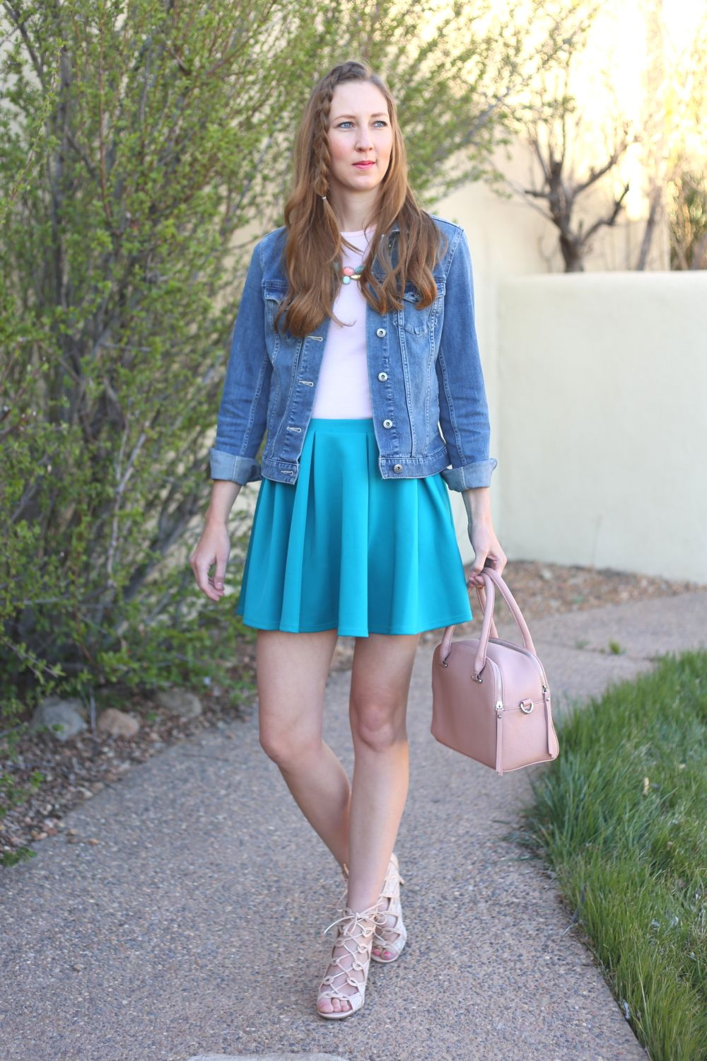 What to Wear for Baby Shower in the Spring | Skater skirt ...