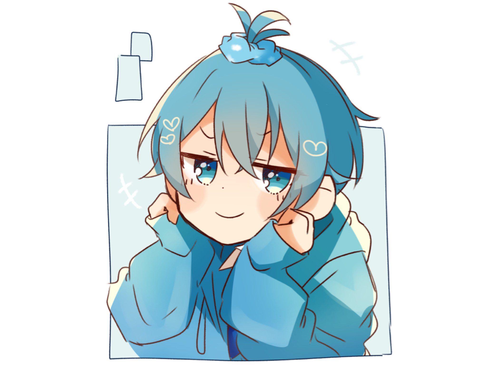 り を ん on Twitter in 2020 Cute anime boy, Blue anime