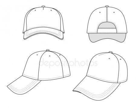 Outline Cap Vector Illustration Stock Vector Ad Vector Cap Outline Vector Ad Cap Drawing Drawing Hats Drawings