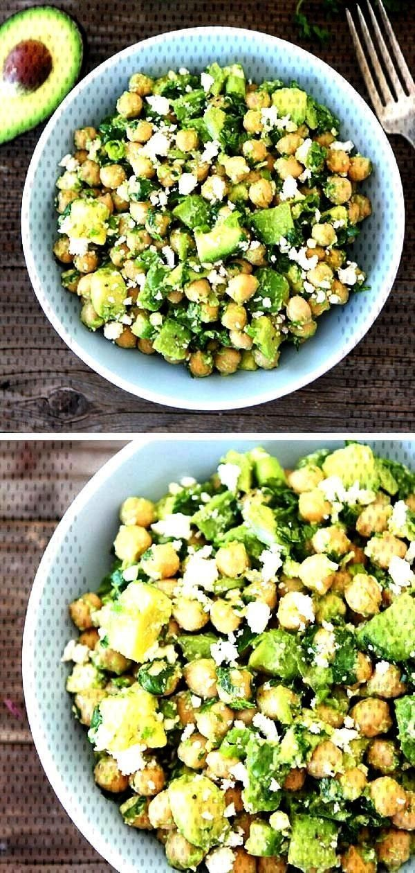 you have to do is combine chickpeas, avocado, cilantro,...All you have to do is combine chickpeas,