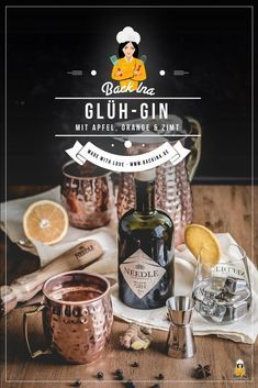 Fruchtiger Glüh-Gin - die Alternative zum Glühwein | BACKINA #gincocktailrecipes