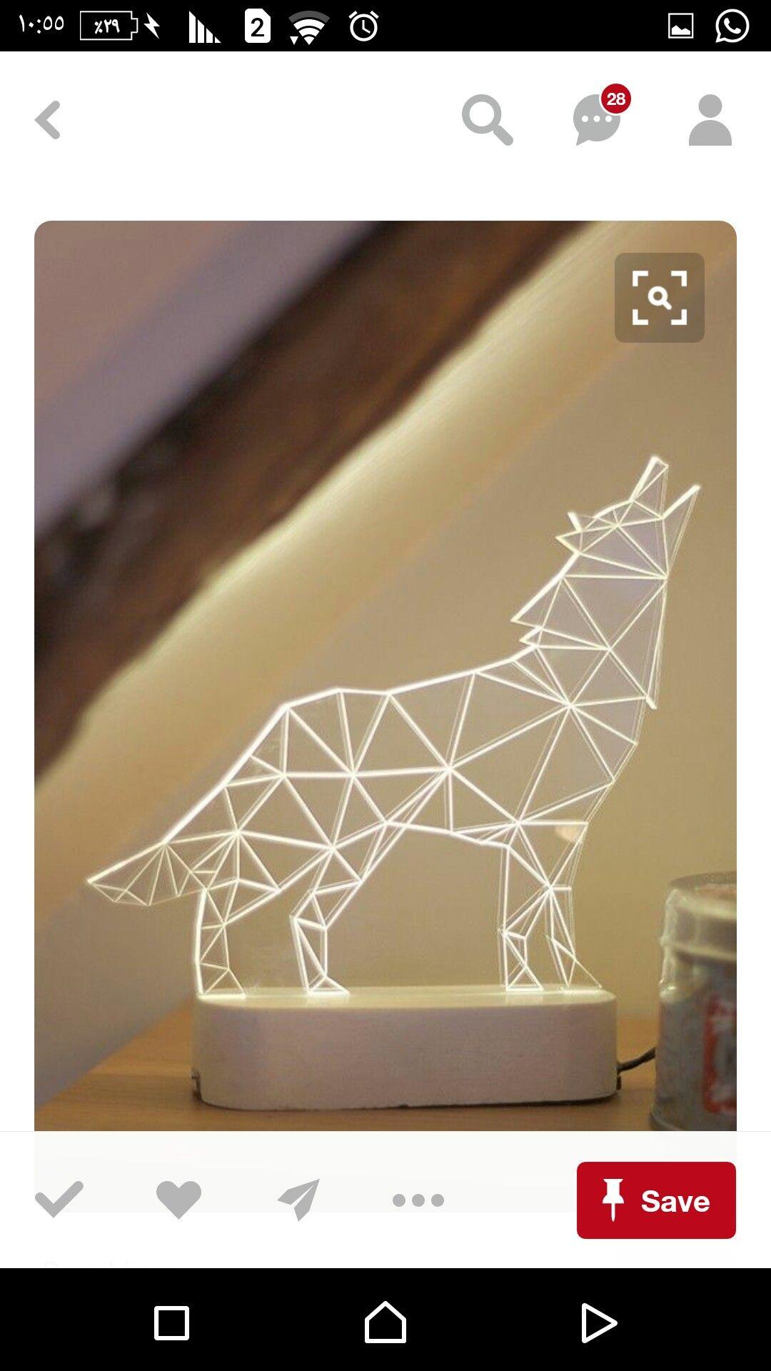 Idea By Mhmoud Alawneh On محمودالعلاونة Geometric Lamp Geometric Wolf Lamp Decor