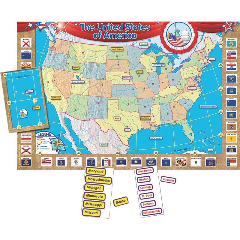 United States Of America Map Bulletin Board Set | Homeschool ...