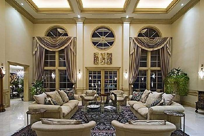 Luxury Homes Mansion Living Room Shaq Shaquille ONeals