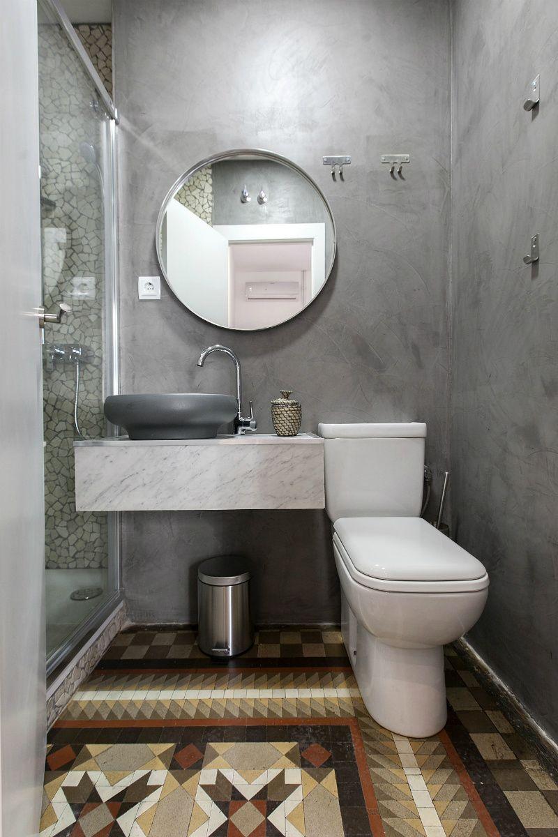 Aseo con ducha en poco espacio madrid ad espa a - Cuartos de aseo con ducha ...