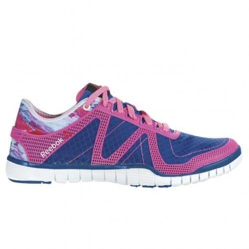 Reebok ZQuick TR LUX Womens Training Shoe M44516 Impact Blue-Pink-Chalk 7fa6a1208