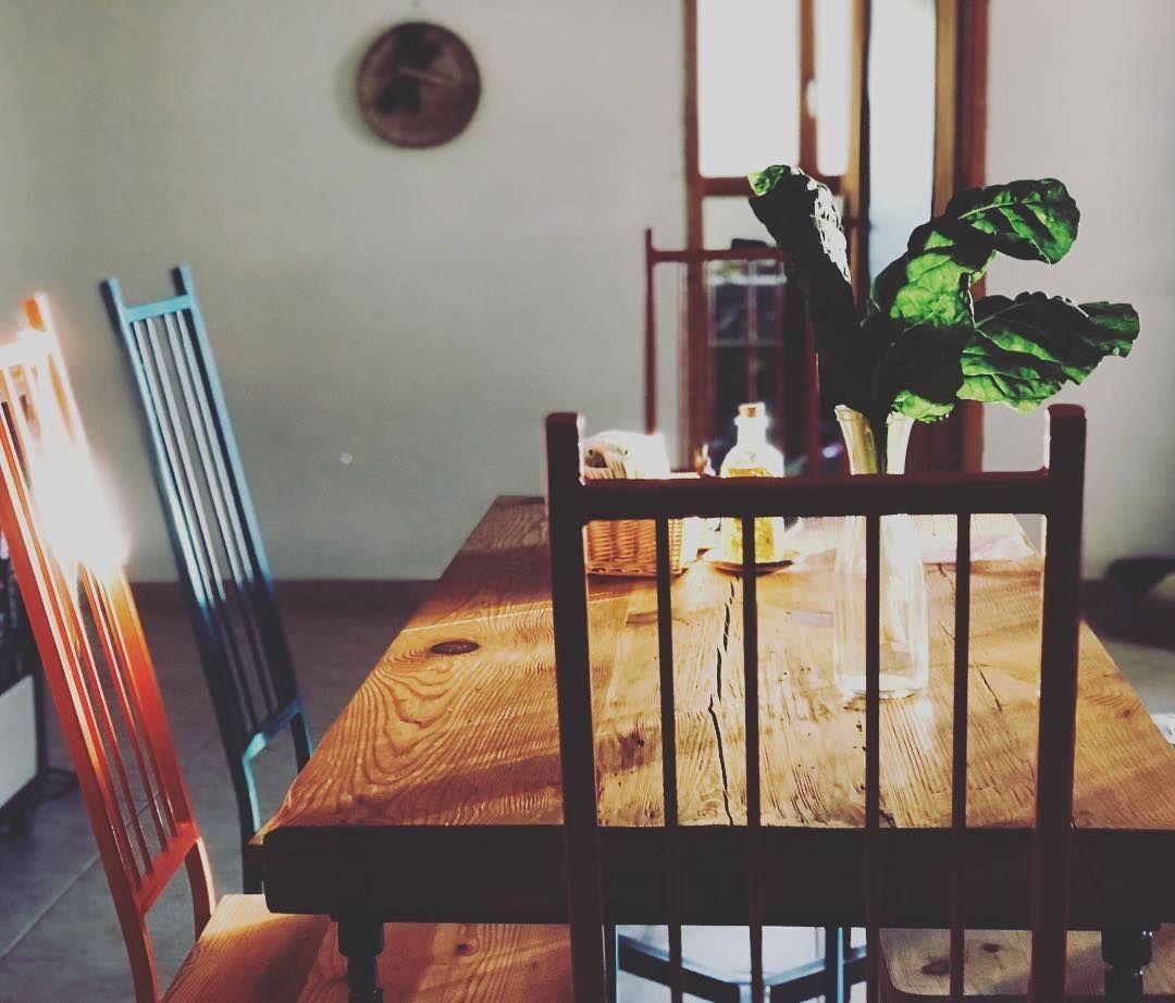 Me gusta nuestra cosina con REC.ONdesign😊 #cosina #cortijo #upcyclinglife #upcycled #upcyclingdesign #upcyclinghome #circulareconomy #greenhotel #casarural #casa #homedecor #chairs #oldwood #madera #mesa #casadecor #casadecor2018 #campo #greendesign