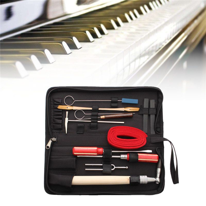 13pcs Set Piano Tuning Maintenance Tools Kit with Case For