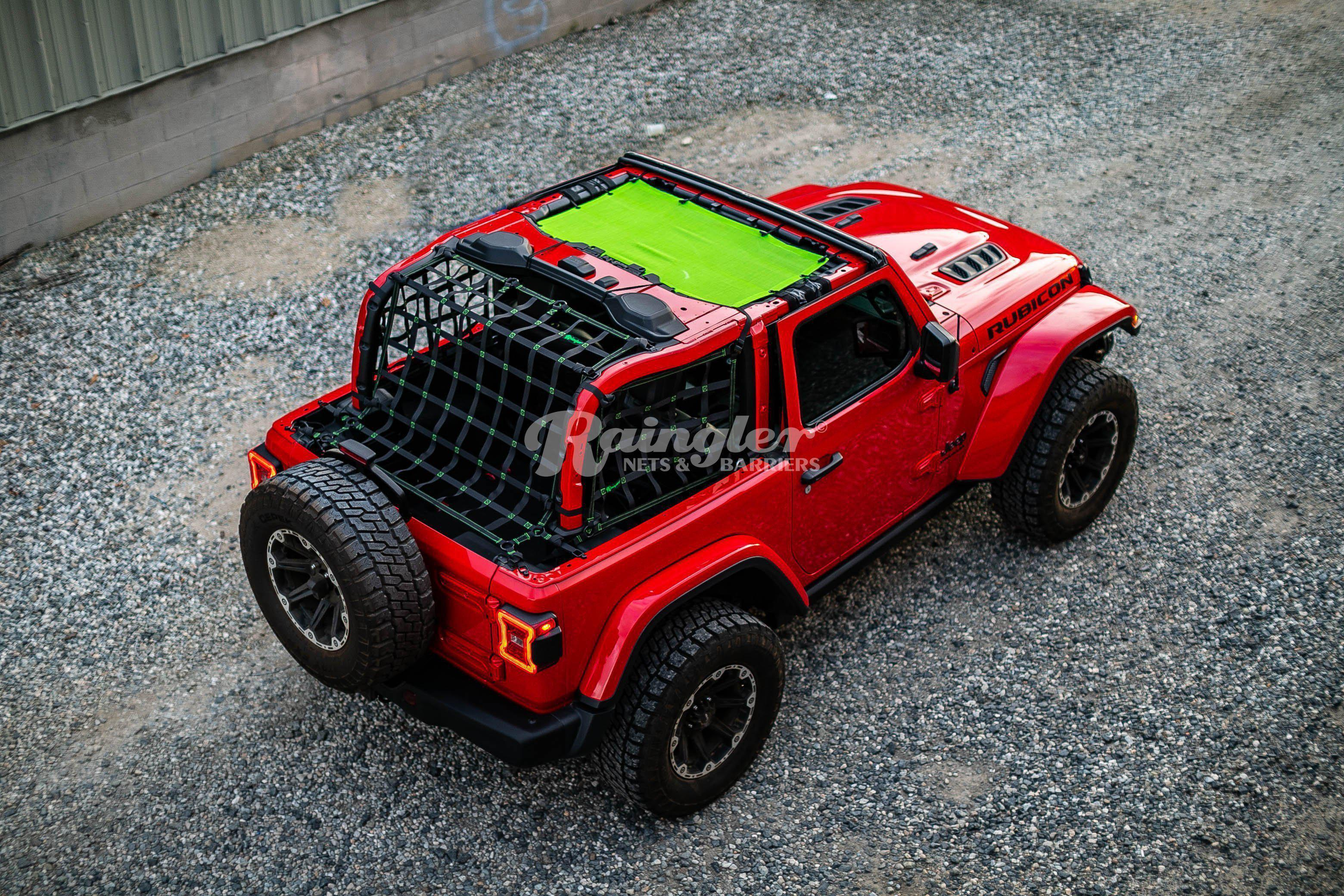 2007 2018 Jeep Wrangler Jk 2 Door 3 Piece Net System In 2020 New Jeep Wrangler Jeep Wrangler Wrangler Jl