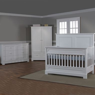 Pali 3 Piece Nursery Set   Aria Forever Crib, Aria Double Dresser And Aria  Armoire