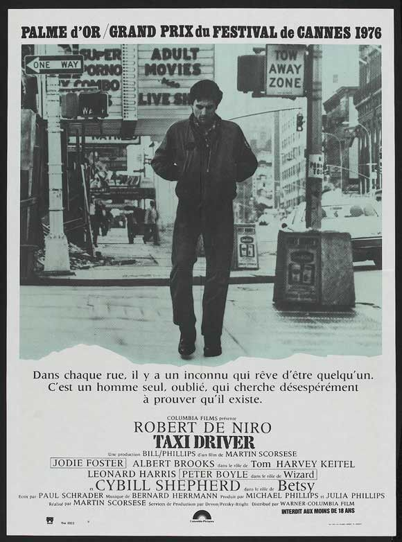 Taxi Driver (French) 11x17 Movie Poster (1976)