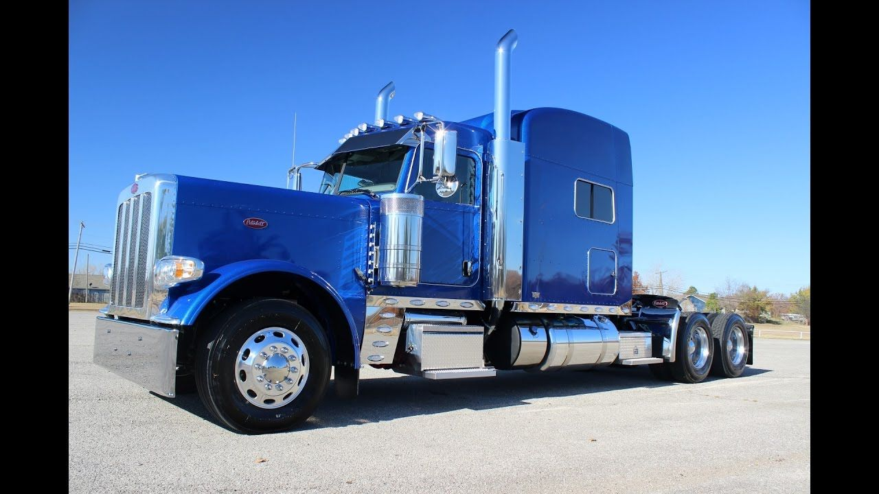 Legendary blue metallic 2017 peterbilt 389 550 cummins 23 gauges platinu