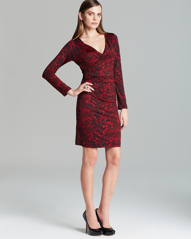 Karen Kane Crimson Python Wrap Dress Women Bloomingdale S Wrap Dress Dresses Clothes [ 1500 x 1200 Pixel ]