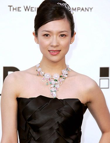 Updo For A Heart Shaped Face Chinese Actress Zhang Ziyi Heart Face Shape Hair Styles Sheer Beauty
