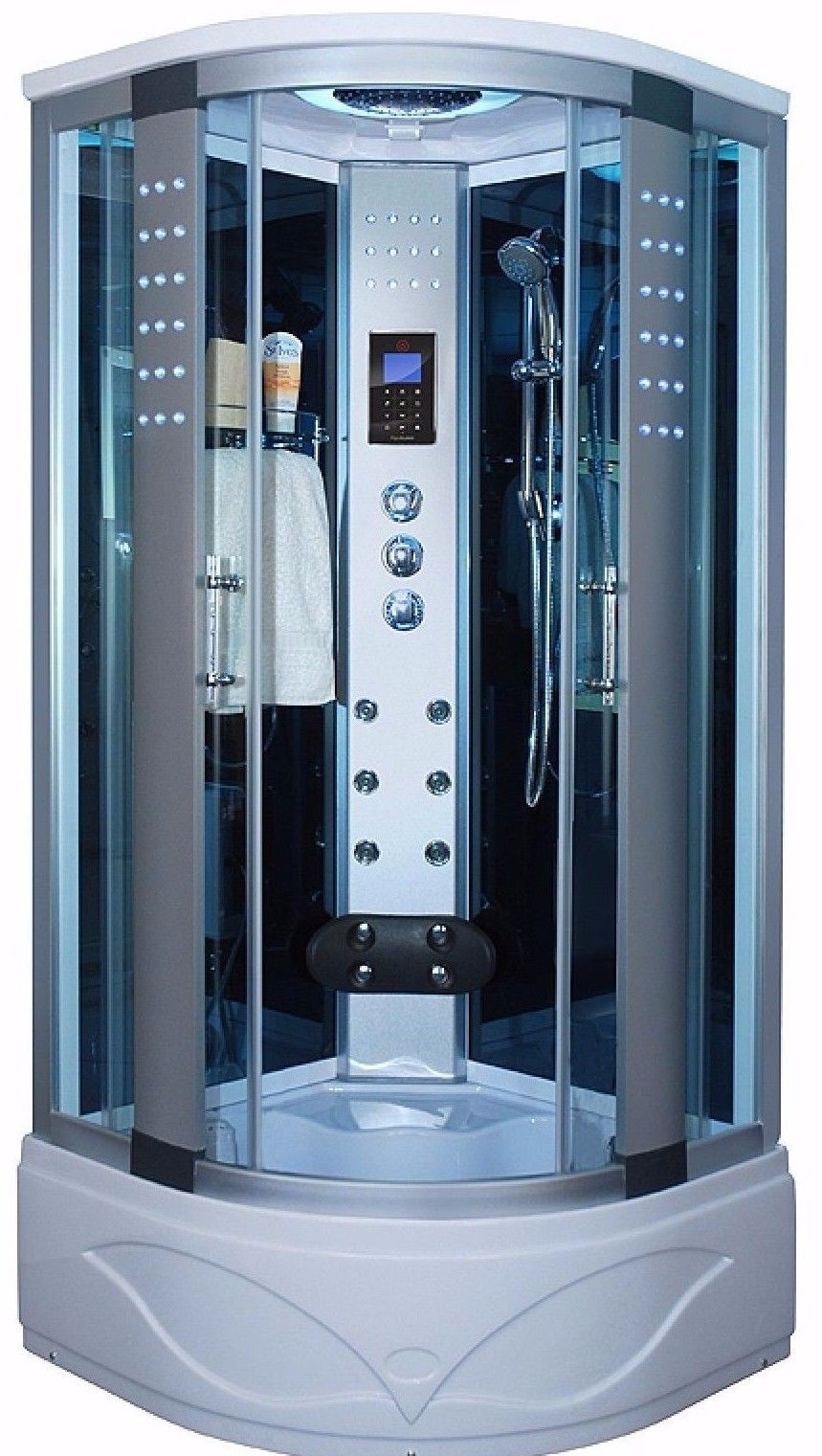 1001 NOW Corner Steam Shower Room Enclosure 36 x 36 8004-AS | Home ...