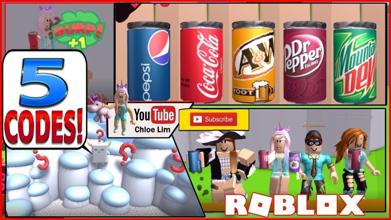Roblox Soda Drinking Simulator! 5 CODES and TOO MUCH SODA