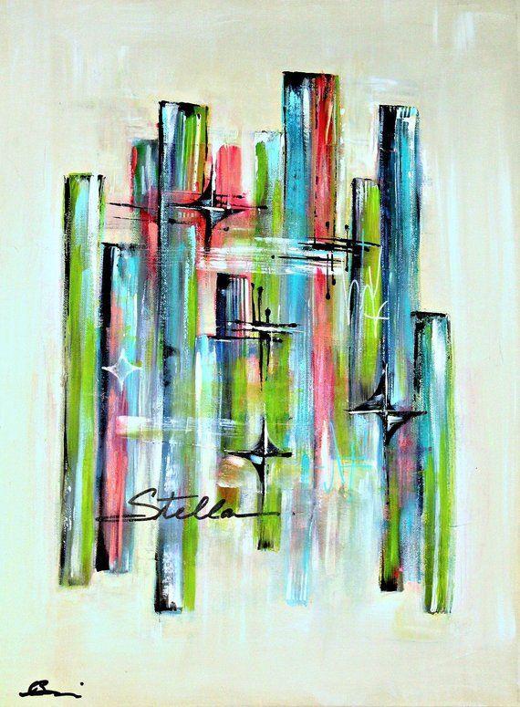 Mid Century Modern Abstract Art