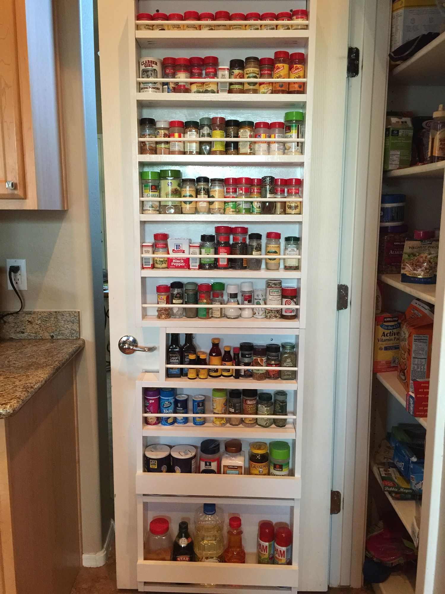 Spice Rack For Pantry Door, Completed!