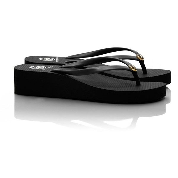 ce254b1a2 Tory Burch Wedge Thin Flip Flop ( 60) ❤ liked on Polyvore
