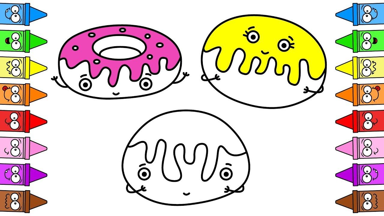 How to Draw Cute Donuts   Coloring Pages Dunkin Donuts   Videos for ...