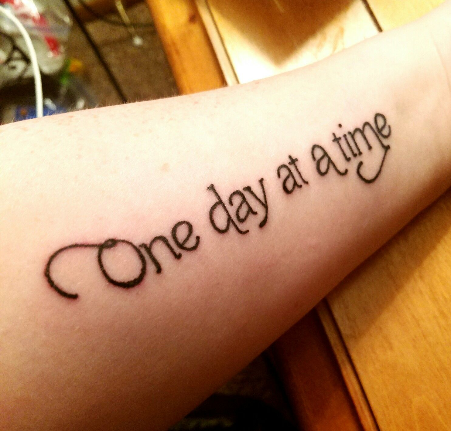 One Day At A Time Tattoo Suicidesurvivor Onedayatatime Tattoo
