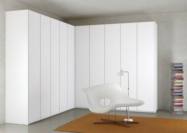 Kleiderschrank weiß hochglanz - Begehbarer \ Schwebetürenschrank - schlafzimmerschrank weis