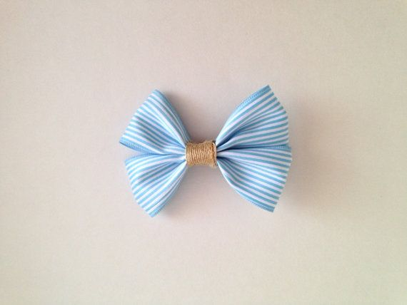Hair Bow  Flat Boutique Style  Blue and by FrillsAndFlairGifts, $4.75
