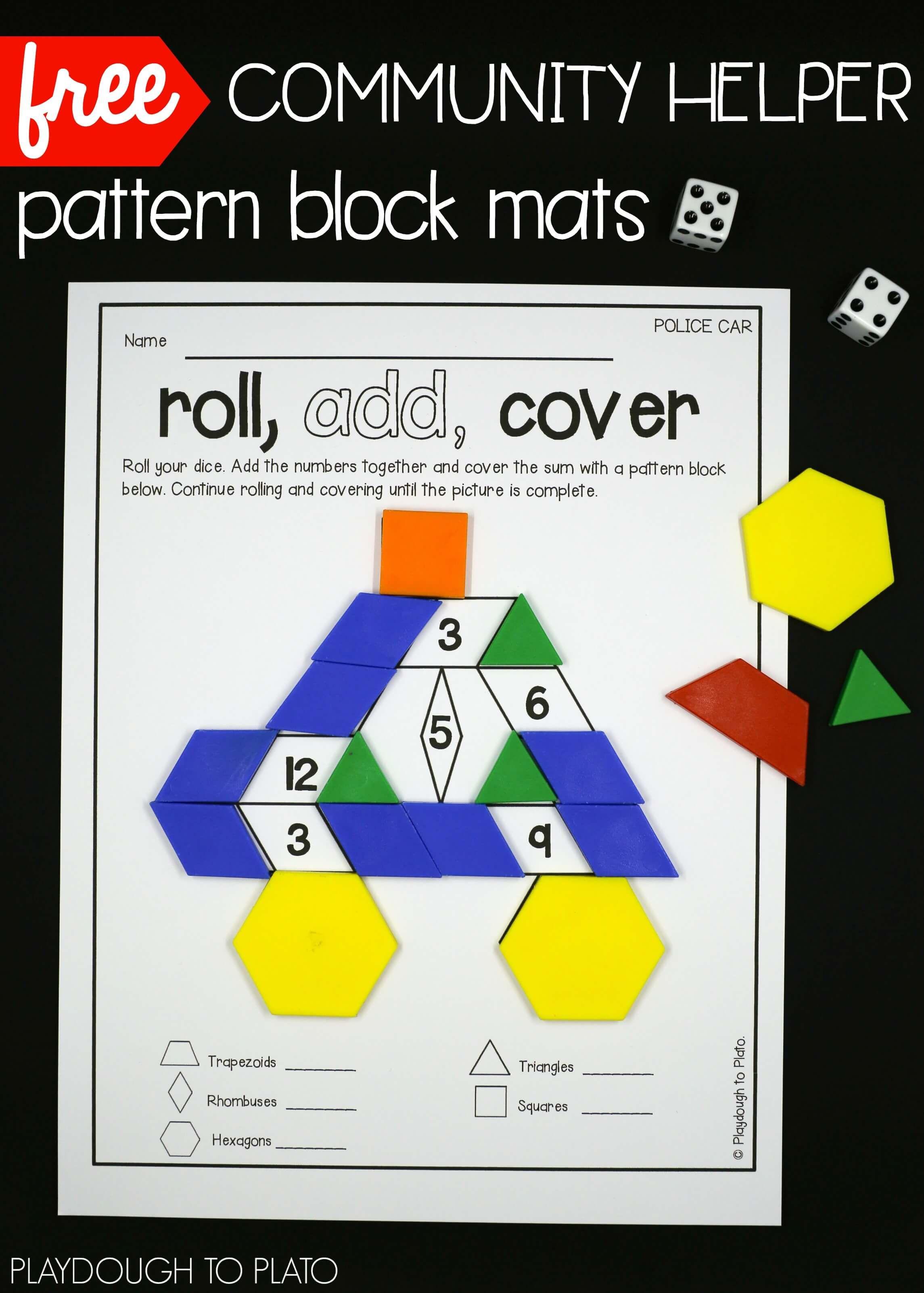 Community Helper Pattern Block Mats