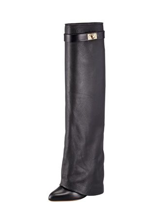 Pant-Leg Wedge Boot by Givenchy.