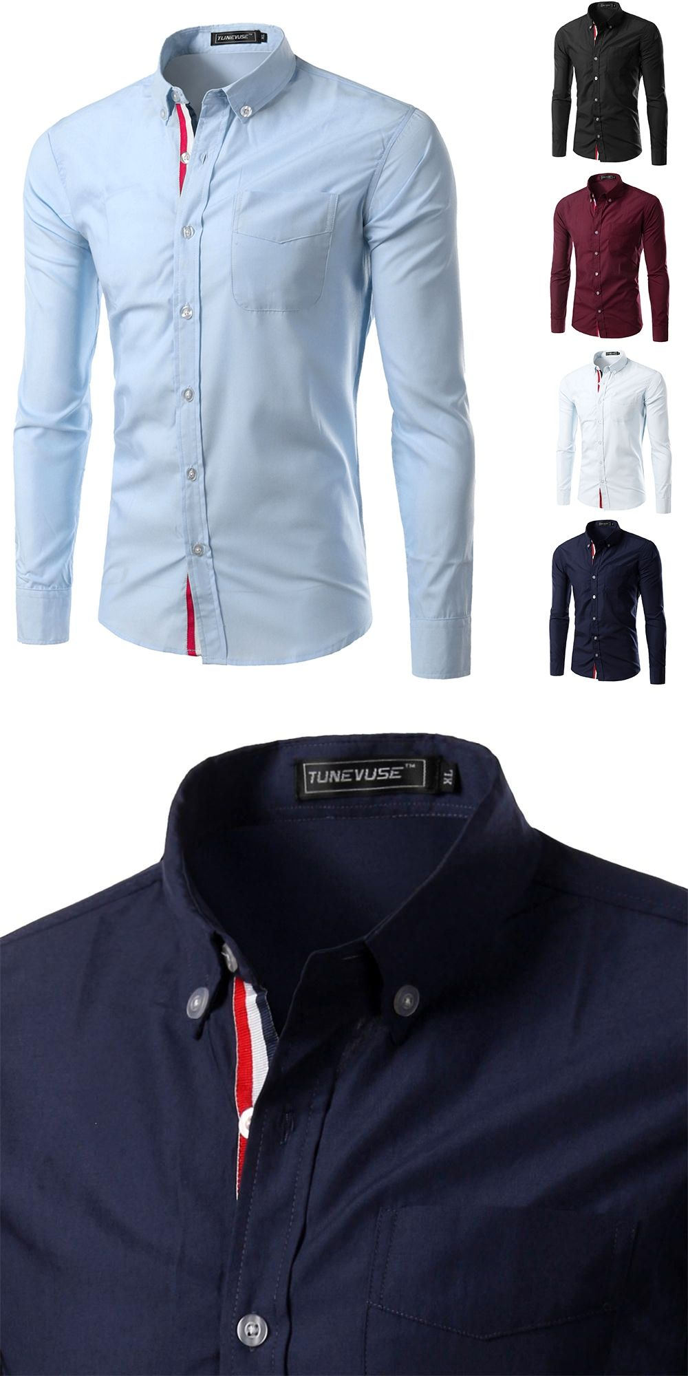 aabbde788c0 HOT SALE Solid Color Chemise Homme Men Shirt mens dress shirts Casual Camisa  Masculina Long Sleeve