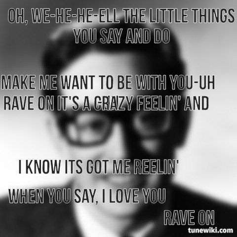 """-- #LyricArt for """"Rave On"""" by Buddy Holly"""