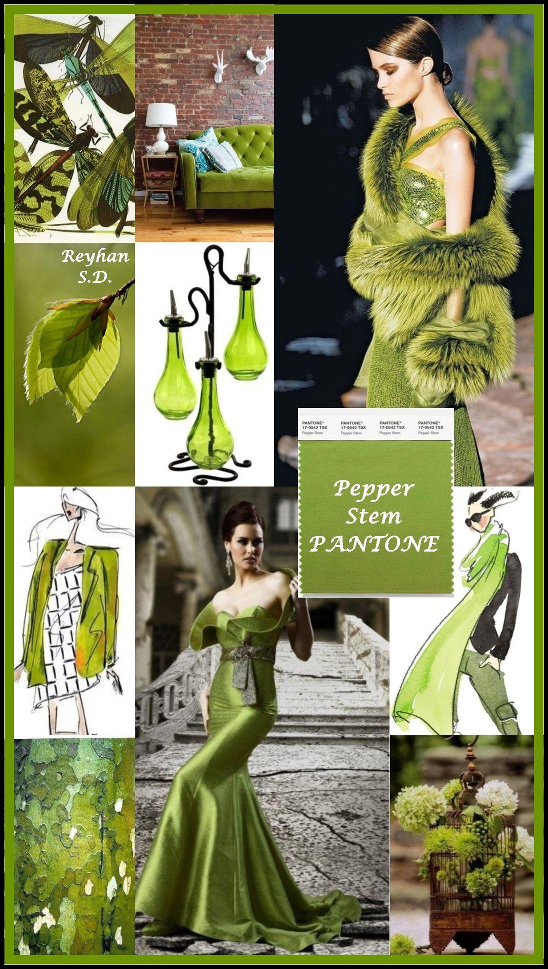 '' Pepper Stem - Pantone Spring/ Summer 2019 Color '' by ...