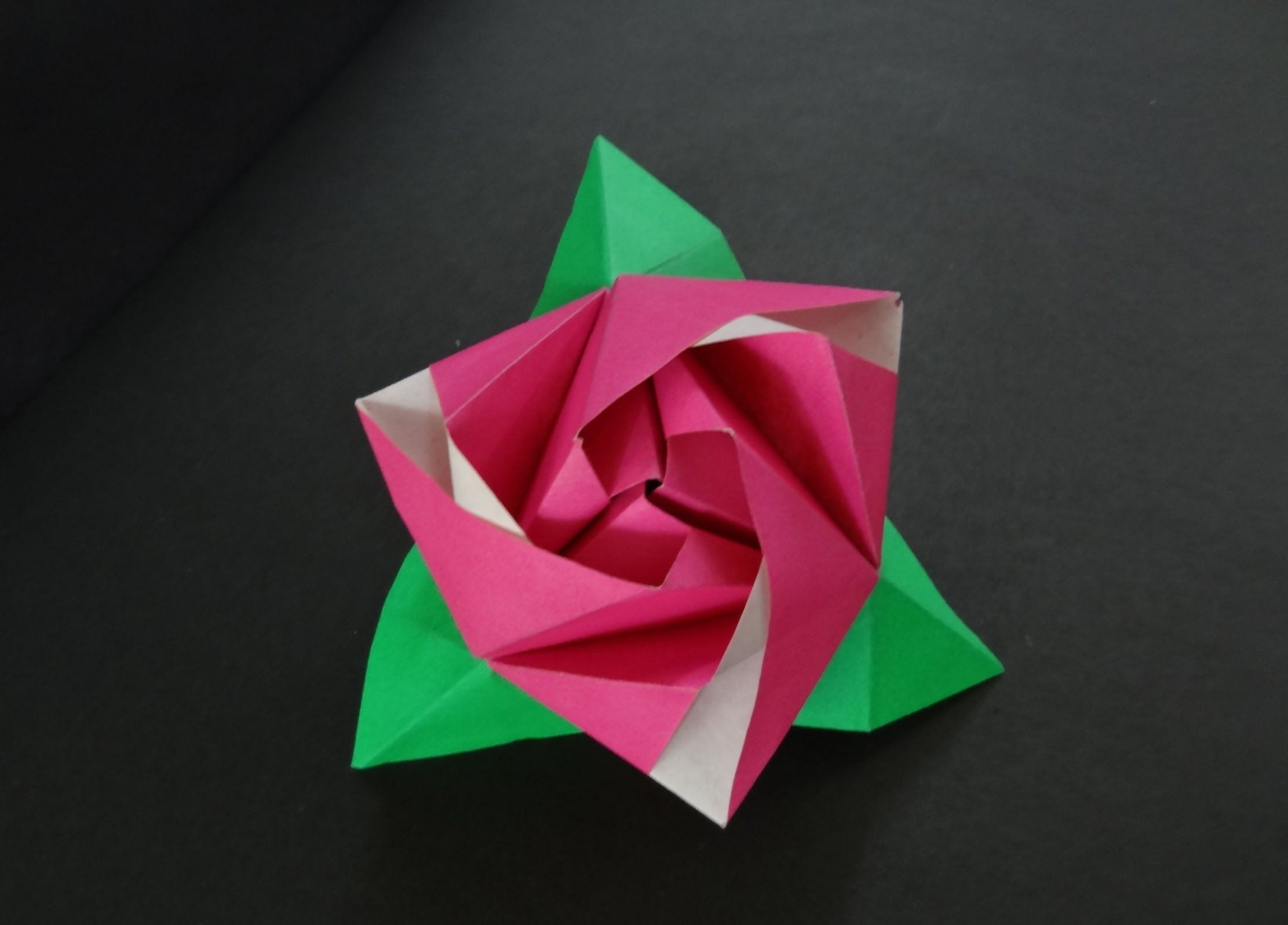 Origami Flower Tutorial How To Fold Origami Rose Cube Pin 4