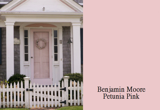 Petunia Pink Would Love A Pink Door Pink House Exterior