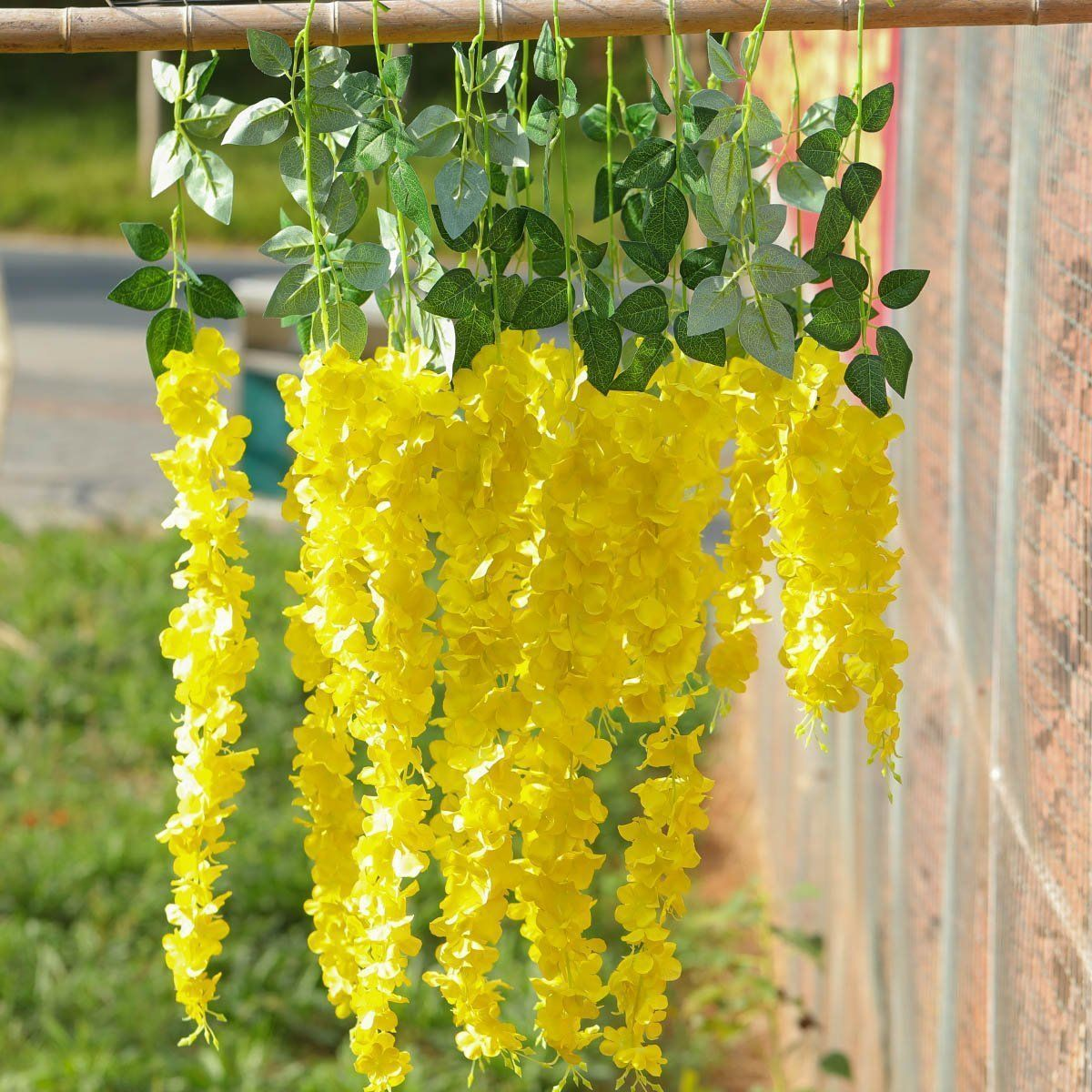 Artificial hanging flowers all things yellow pinterest artificial hanging flowers mightylinksfo