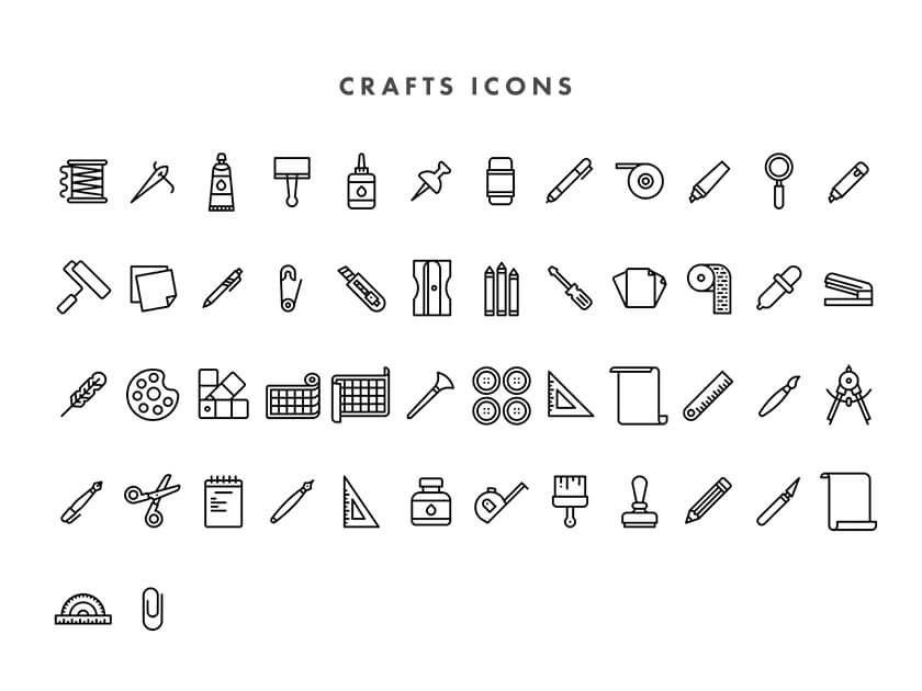 Crafting iconset