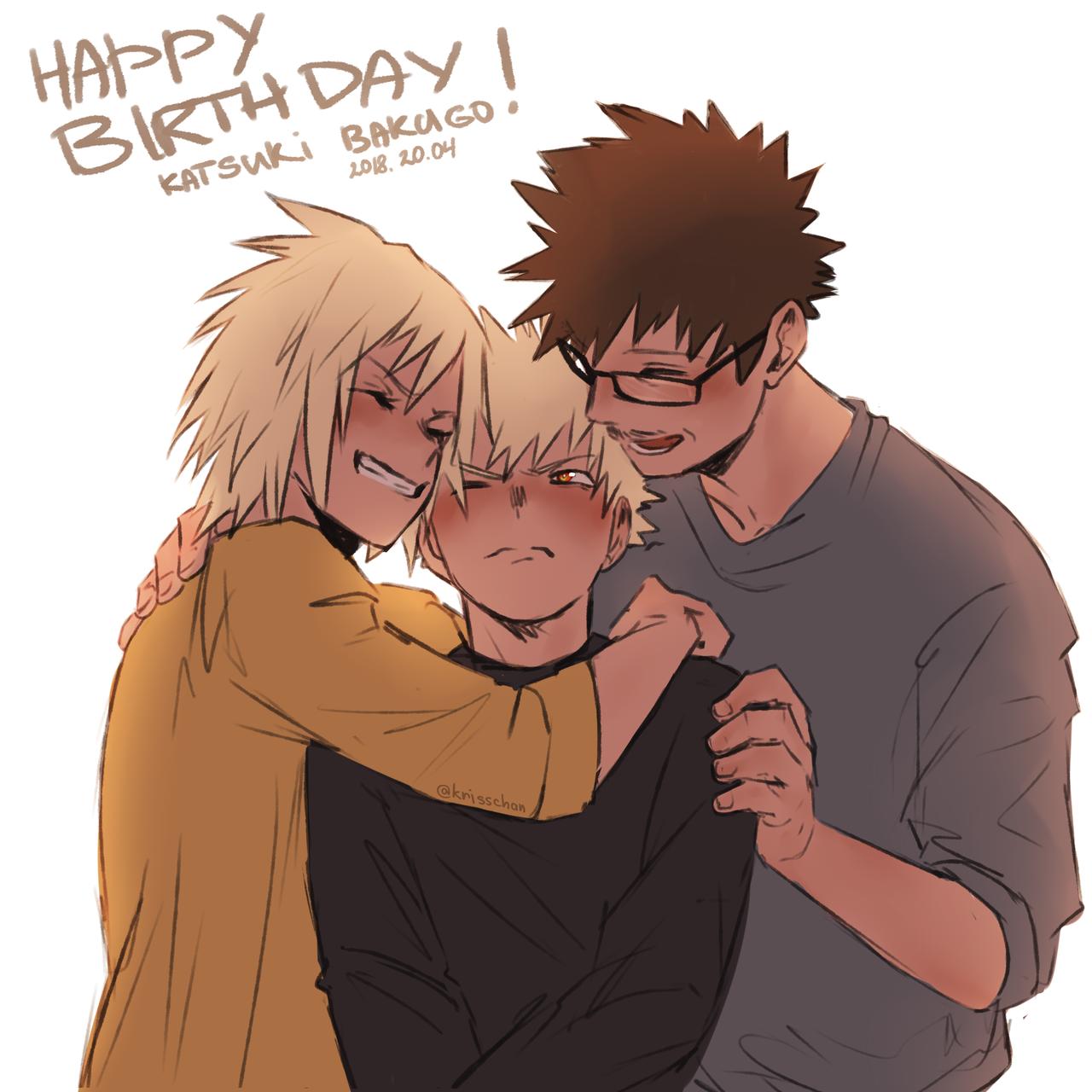 Bakusquad Everyday Today Is My Bakugou S Birthday I M Very Very Happy Happy New Year My Baby Today Is V Anime Cute Anime Guys Anime Sketch