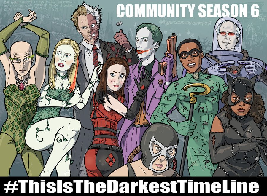 community cast as batman characters