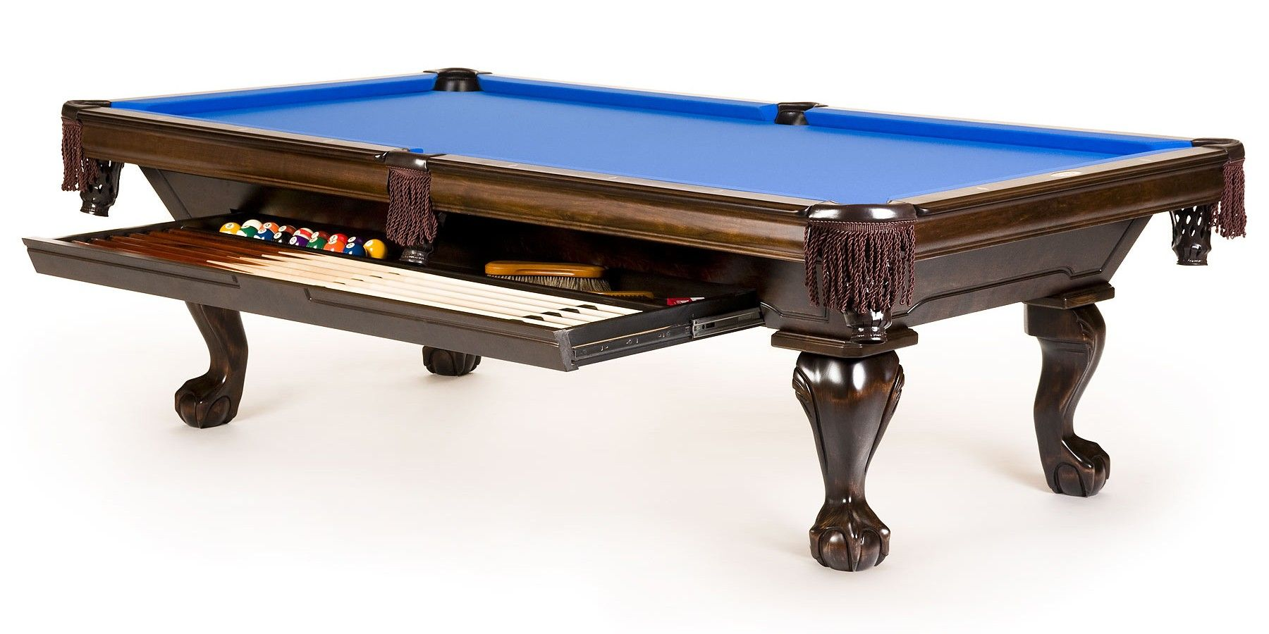 Benchmark Denver Billiards Table With Built In Storage For Cues Balls And Accessories We Need One Like This Pool Table Pool Table Cloth Pool Tables For Sale