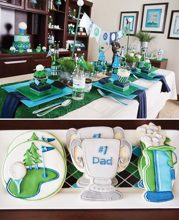 fathers day golf party par tee ideas cookies