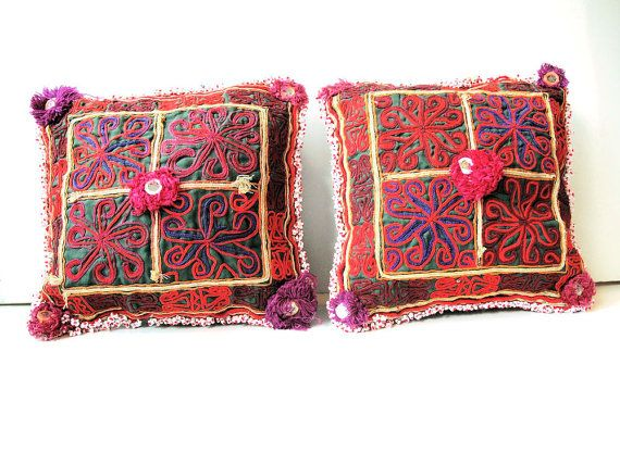 Handmade Tribal PillowsCushions with Pashtun Hand by oldsilkroute