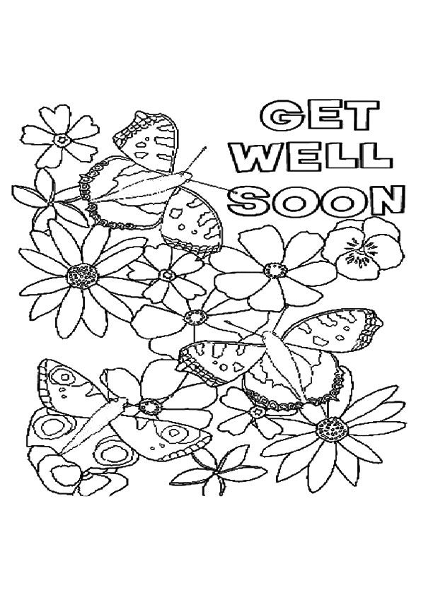 Top 25 Get Well Soon Coloring Pages To Keep Your Toddler