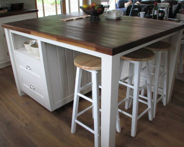 free standing kitchen island with seating pretty close to what we want to build